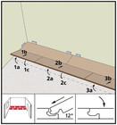 Этапы укладки замка Angle Angle. Фото 13